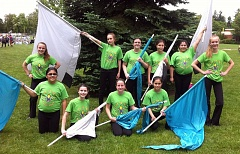 SUBMITTED PHOTO - Beaverton's Katelyn Fabian won her Girls Scouts Gold Award for launching a new color guard group at Meadow Park Middle School; the group will perform with the Meadow Park marching band at the Rose Festival Junior Parade.