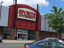 TIMES PHOTO: ERIC APALATEGUI - This Sports Authority location in Cedar Hills Crossing is one of all 460 stores nationwide the company will close this summer following clearance sales to liquidate merchandise.