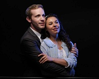 CRAIG MITCHELLDYER/BROADWAY ROSE THEATRE COMPANY - The cast of the Broadway Rose production of 'West Side Story' features Andrew Wade as Tony and Mia Pinero as Maria, star-crossed lovers who fight to be together against all odds.