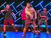 DAVID F. ASHTON - The Franklin Breakers, representing Franklin High School in the annual Z-Man Scholarship talent show, present their hip-hop dance skills.