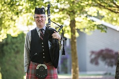 TIMES PHOTO: JONATHAN HOUSE - Craig Maxwell has been practicing the art of bagpiping for most of his life.