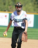 PAMPLIN MEDIA GROUP: DAVID BALL - Ellie McClaskey pitches for Lincoln/Southwest Portland in Thursday's game at the Little League Softball World Series at Alpenrose Stadium.