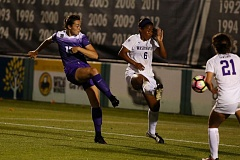 COURTESY: STEVEN GIBBONS/UNIVERSITY OF PORTLAND - Former Grant Generals standout Hannah Griffiths Boston puts the Portland Pilots up 2-1 Friday night at home against the Washington Huskies.