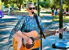 DAVID F. ASHTON - Award-winning jazz and blues artist Ellen Whyte entertained at the first of the 2016 free Ardenwald/Johnson Creek Summer Concerts in Ardenwald Park.
