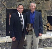 SUBMITTED PHOTO - Washington County Sheriffs Office Detective James Mitch Coley was honored on Sept. 14 with the International Association of Arson Investigators (IAAI) 2016 Fire Investigator of the Year award.