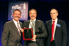 SUBMITTED PHOTO - Hillsboro Mayor Jerry Willey accepts an award from the League of Oregon Cities last week.