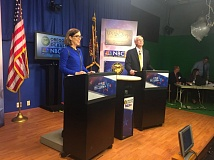 PARIS ACHEN - Gov. Kate Brown and GOP gubernatorial nominee Bud Pierce debate at Medford's NBC5.