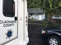 COURTESY PHOTO: CCSO - Clackamas County Sheriff's Office investigators are searching for two people they think are connected to a Tuesday night homicide at this house on Southeast Oatfield Road.