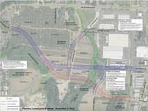 SUBMITTED PHOTO - After eliminating the four additional route alternatives, City staff have narrowed the connector options down to Bailey Street and 5th Street.