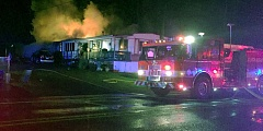 COURTESY PHOTO - Clackamas Fire District No. 1 crews discovered the body of a woman in the back bedroom of a mobile home on South End Road Thursday evening, Nov. 24.
