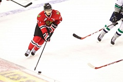 TRIBUNE PHOTO: JAIME VALDEZ - Brendan De Jong has become a key defenseman and participant in getting up the ice for the Portland Winterhawks.
