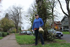 PORTLAND TRIBUNE: LYNDSEY HEWITT - Alyssa Gregg is fighting a notice from the city to take down two trees not found to have Dutch elm disease. The city has paid for the removal of trees with Dutch elm, but not the type of fungi it says the trees in front of Gregg's house have.