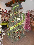 BARBARA SHERMAN - This beautiful tree at Sleighbells is adorned with ornaments for sale made from jewelry and other accessories, with a portion of the proceeds benefitting cancer patients.