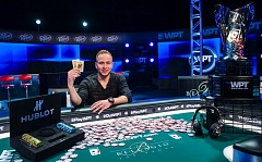 COURTESY: JOE BIRON/WORLDPOKERTOUR.COM - James Romero, a West Linn High graduate and Wilsonville resident, wins the World Poker Tours Five Diamond World Poker Classic at the Bellagio in Las Vegas, Nevada.