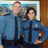 COURTESY PHOTO - Trooper Nic Cederberg, left, with his wife Hayley Shelton, a Portland police officer, in an undated photo provided by the Oregon State Police.