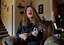 STAFF PHOTO: KELSEY OHALLORAN - Tess Creasy, 14, plans to release her second studio album this spring.