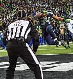 TRIBUNE PHOTO: MICHAEL WORKMAN - SEATTLE RUNNING BACK THOMAS RAWLS FINDS THE END ZONE.