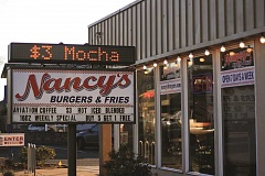INDEPENDENT PHOTO: PHIL HAWKINS - Nancy's Burgers and Fries is planning to launch its first location outside of Salem and Keizer in Woodburn this summer. Pictured is the Keizer restaurant, located on River Road.