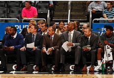 COURTESY: ORLANDO MAGIC - Portland native David Adelman (second from right), will be with the Orlando Magic team and coaching staff on Friday for a game against the Trail Blazers at Moda Center.
