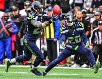 TRIBUNE FILE PHOTO: MICHAEL WORKMAN - Earl Thomas of the Seattle Seahawks intercepts a pass early in the 2016 season.