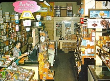 COURTESY OF GALAXY PHOTOS AND GERRY GRIFFITH - Alice Griffith worked behind the counter of the ByBee Avenue Grocery along Milwaukie Avenue owned by her husband, Esta. Alices job was waiting on customers, filling the call-in orders, and managing the accounts. Her two sons Bill and Gerry helped manage the store, and delivered groceries in the neighborhood. Gerry Griffith remembers making a surprise delivery to Humphrey Bogart and his wife in Eastmoreland! The ByBee Avenue Grocery outlasted the Westmoreland Safeway store, and serviced local customers for close to forty years.