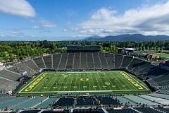 TRIBUNE FILE PHOTO: CHISTOPHER OERTELL - Autzen Stadium in Eugene, where the Oregon Ducks will win almost every game in 2017, according to one early forecast.
