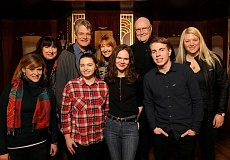 STAFF PHOTOS: VERN UYETAKE  - Presenting Fertile Ground readings of their plays at Lakewood Theatre Company are front row from left, Hayley Green, Haley Phillips, Meghan Mueller, Nikolas John Alves and YPF Program Director Megan Kate Ward, and back row, left to right, Cynthia Whitcomb, Laurence Overmire, Nancy McDonald and Father Richard Berg. Not pictured are Ron Lee, Austin Green and Natalie Schur.