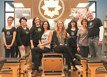 PHOTOGRAPHY BY JAIME VALDEZ - Club Pilates staff, from left: Jeannette Phillips, Michelle Daily, Lucille Dyer, Rachel Rubanow, Sam Wehausen, Courtney Rhoades and owners Debbie and Dan Wynkoop.
