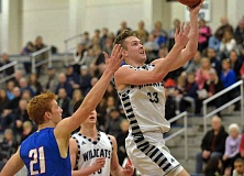 SPOKESMAN PHOTO: COREY BUCHANAN - Wilsonville senior boys basketball player Zach Reichle led the Wildcats with 28 points against La Salle.