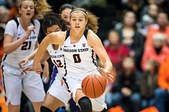 COURTESY: KARL MAASDAM/OREGON STATE UNIVERSITY - Mikayla Pivec, a freshman guard from Lynnwood, Wash., emerged quickly as a key player for Oregon State.