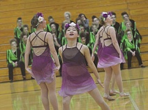 SPOKESMAN PHOTO: COREY BUCHANAN - Photo of Isabelle Brooke during the Wilsonville Pride dance team's second performance at the Winter Festival of Dance.