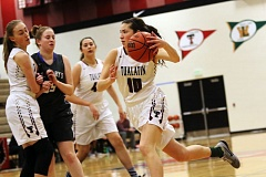 DAN BROOD - Tualatin High School senior Jen Crane (10) had a huge game for the Timberwolves in their 77-70 victory over St. Mary's Academy on Tuesday with 26 points, eight rebounds, eight assists, three steals and two blocked shots.