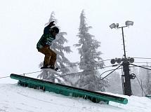 SUBMITTED PHOTO - Tigard's Tarin Schneider took third pace in Saturday's slopestyle event.
