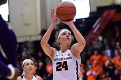 COURTESY: DAVE NISHITANI/OREGON STATE - Sydney Wiese is the leader of the Oregon State women's basketball team, but teammates say she puts others ahead of herself.