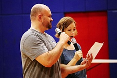 CONTRIBUTED PHOTO - Authors Dean and Shannon Hale read parts of their new book together.