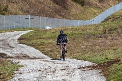 PORTLAND TRIBUNE: JONATHAN HOUSE - A cyclist rides along a path on the Gateway Green on Saturday. The park, a mountain biking park between I-84 and I-205, will benefit from the Big Jump grant. A ribbon cutting will happen there in June.