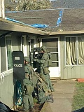 SUBMITTED PHOTO: WASHINGTON COUNTY SHERIFF'S OFFICE - The Washington County Tactical Negotiations Team served a search warrant Tuesday morning, Feb. 14, in the 2800 block of North Davis Court in Cornelius. The action was unrelated to rumored activity, refuted by local law enforcement officials, by the U.S. Immigration and Customs Enforcement in the area.