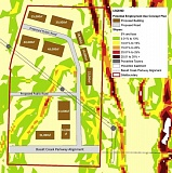 "COURTESY OF THE CITY OF TUALATIN - A map included in the Mackenzie analysis shows a proposed layout that would yield about 315,000 square feet of building space in the 63-acre ""central subarea"" of the larger Basalt Creek area, if it were developed for industrial use."