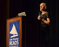 REVIEW PHOTO: VERN UYETAKE - During her Lake Oswego Reads presentation, author Nathalia Holt shared insights from her interviews and research on the space race, womens rights in the workplace and the modern push to promote careers in science, technology, engineering and math (STEM) for girls.