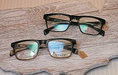 TIDINGS PHOTO: VERN UYETAKE - State Optical Co. frames are handmade in Chicago.