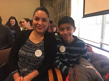 PARIS ACHEN/CAPITAL BUREAU - Raul Perez, 12, (right) and his mother, Norma, (left) listen to a hearing on a bill that would expand health coverage to undocumented children, during a meeting of the House Committee on Health Care Monday, Feb. 20, 2017.
