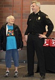 THE TIMES: MANDY FEDER-SAWYER - Helen Winberg was a celebrity guest during the distribution of portable AEDs at the Tualatin Valley Fire & Rescue Aloha station on Valentines Day. She is pictured here with TVF&R Chief Michael Duyck.