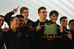 TIMES PHOTO: MATT SINGLEDECKER - The Jesuit boys swimming team won its third straight Class 6A state championship on Saturday.