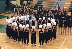SUBMITTED PHOTO - The West Linn District Dancers performed three songs Feb. 11 at West Linn High School.