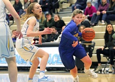 PMG PHOTO: MILES VANCE - Newberg's Taylor Rarick and the Tigers will be back in action at 7 p.m. Saturday when they host Willamette in the Class 6A state Play-In round.