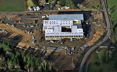 PHOTO COURTESY OF BEAVERTON SCHOOL DISTRICT - Aerial photo of new K-5 Elementary School under construction, taken in January.