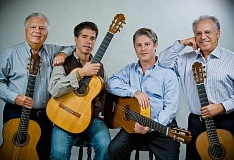 SUBMITTED PHOTO  - Los Romeros, known as the Royal Family of the Guitar, will present a concert March 10 at the Arlene Schnitzer Concert Hall in Portland. The classical guitarists will lead a master class at Marylhurst the next day.