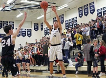 REVIEW FILE PHOTO - Lake Oswego junior JR Schilling and the Lakers saw their season end in a 56-54 overtime defeat to Lincoln in the first round of the Class 6A state playoffs on Tuesday.