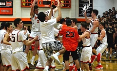 TIMES PHOTO: MATT SINGLEDECKER - The Beaverton boys basketball team clinched its first berth to the Class 6A state tournament with its 68-37 win over Southridge on Friday.