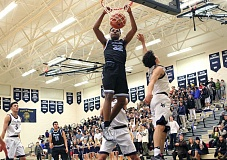 REVIEW PHOTO: MILES VANCE - Lakeridge junior forward Immanuel Allen dunked on a lot of people this year and earned a spot on the all-TRL first team for his efforts.